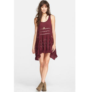 Free People Swingy Lace Inset Tunic (M)